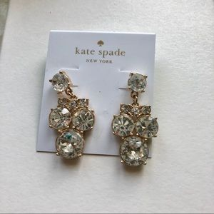 Kate Spade Round Drop Crystal Earrings